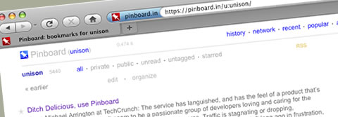 Bookmarks move to pinboard