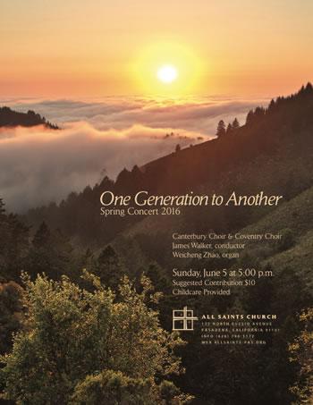photo of Spring Concert 2016 flyer